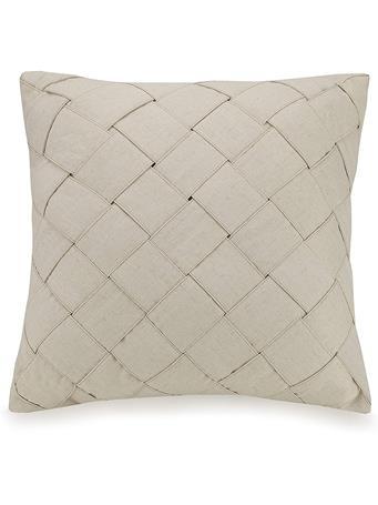 AYESHA CURRY - Basketweave Decorative Pillow TAN