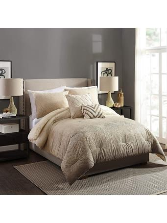 AYESHA CURRY - Modern Ombre 3-Piece Comforter Set TAUPE