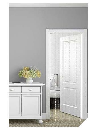 REGAL HOME - Kaia Crystal Beaded Curtain Panel CLEAR