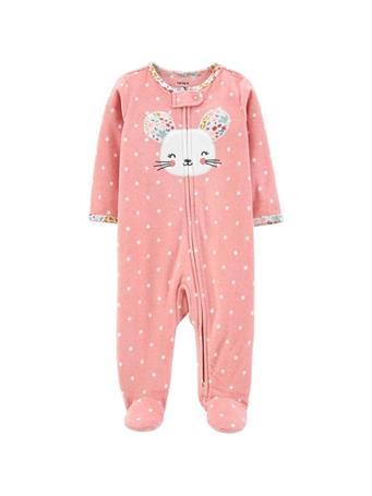 CARTER'S - Zip-Up Fleece Sleep & Play  PINK