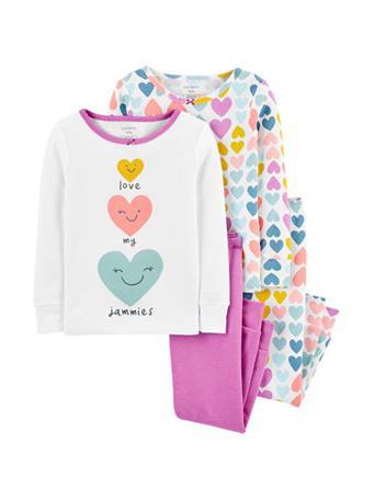 CARTER'S - 4 Piece Snug Fit Pajama Set - Girl 12-24M NOVELTY