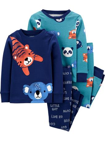 CARTER'S - 4 Piece Snug-Fit Cotton Pajama Set - Toddler Boy  NOVELTY