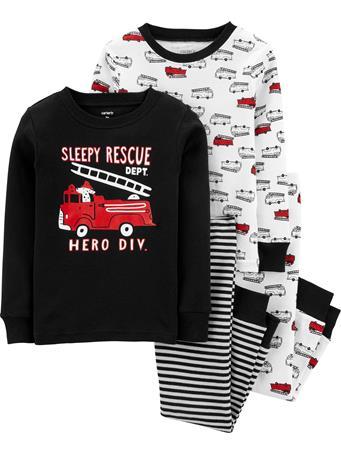 CARTER'S - 4 Piece Snug-Fit Cotton Pajama Set - Toddler Boy  NOVELTY