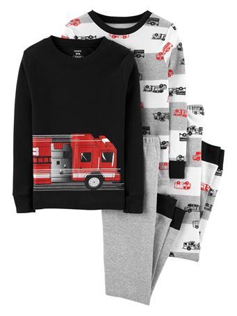CARTER'S - 4 Piece Snug-Fit Cotton Pajama Set - Boy 5-8 NOVELTY