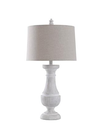 STYLECRAFT  - Traditional Table Lamp with Hardback Shade WHITE