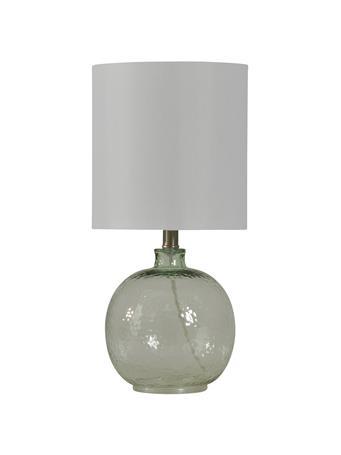 STYLECRAFT  - Mini Spanish Clear Glass Ball Table Lamp CLEAR