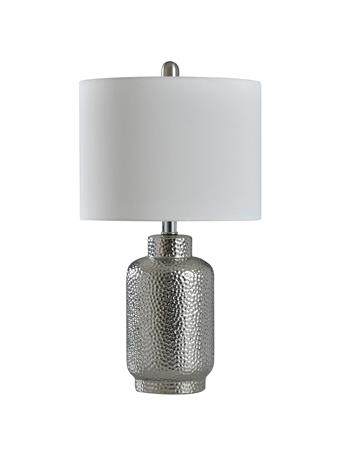 STYLECRAFT  - Selena Hammered Silver Traditional Table Lamp SILVER