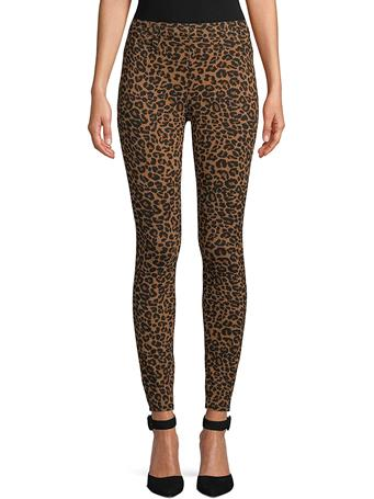 DASH - Leopard Ponte Pull On BROWN-LEOPARD