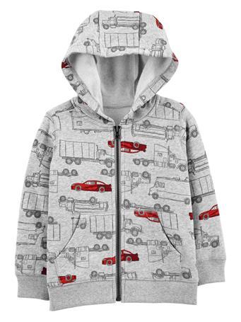 CARTER'S - Vehicles Zip-Up Fleece-Lined Hoodie - Toddler Boy  NOVELTY