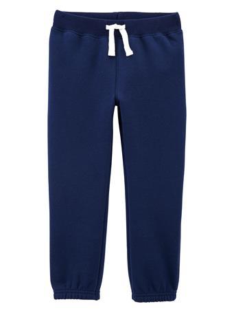 CARTER'S - Pull-On Fleece Pants - Toddler Boy  NAVY