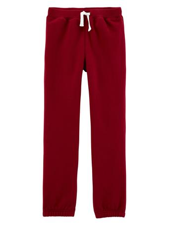 CARTER'S - Pull-On Fleece Pants - Boy 5-8  MAROON