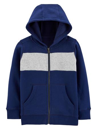 CARTER'S - Colourblock Full-Zip Fleece Hoodie - Boy 5-8 NAVY