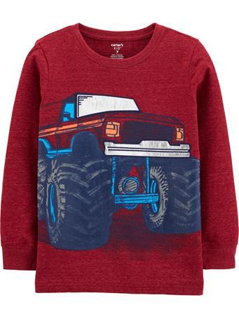 CARTER'S - Long Sleeve Truck Top - Boy 5-8 NOVELTY
