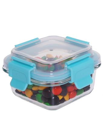 HOME BASICS - 21 oz. Leak and Spill Proof Glass Meal Prep Storage Container No-Color