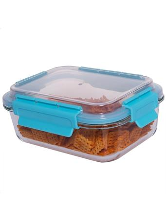 HOME BASICS - 35 oz. Leak and Spill Proof Glass Food Storage Container No-Color