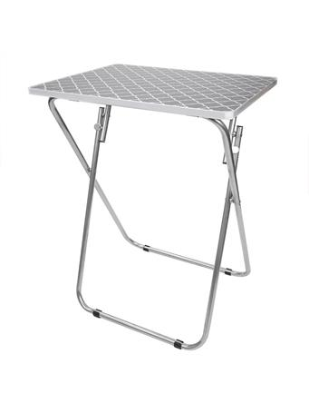 HOME BASICS -  lattice Multi-Purpose Foldable Table  No-Color
