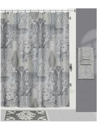HEIRLOOM SHOWER CURTAIN GREY