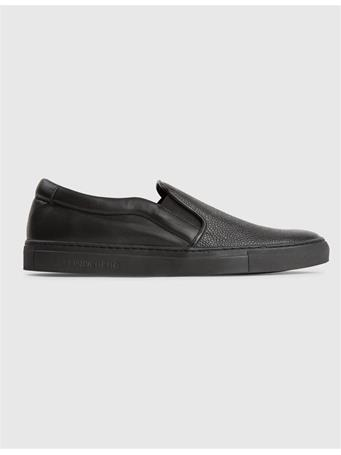 Combo Leather Slip-on Sneakers