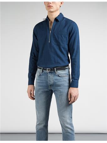Daniel Zip Denim Shirt
