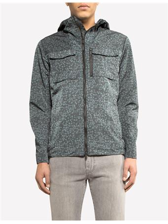 Jonah Printed Hood Nickel Jacket