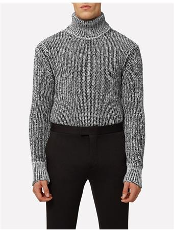 Pratt Moire Cotton T-Neck Sweater