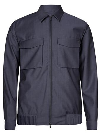 Jason Zip Wool Mohair Overshirt