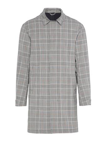 Cage Bonded Checked Car Coat