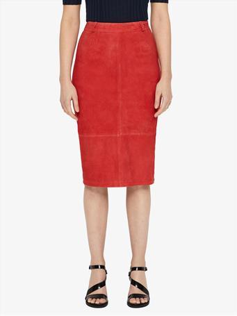 Dixon Stretch Suede Pencil Skirt