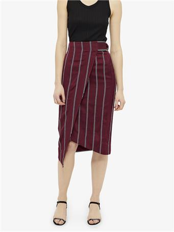 Matador 3D Stripe Belted Wrap Skirt