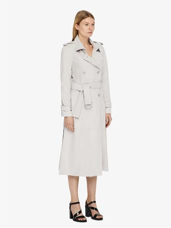 Alphine Light Suede Trench Coat