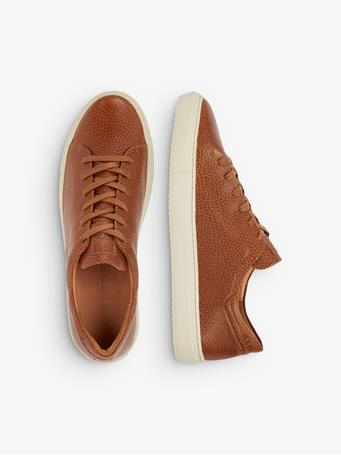 Leather Grained Sneakers