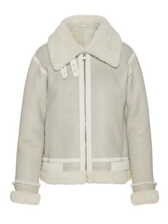 Marcelle Distressed Shearling Coat