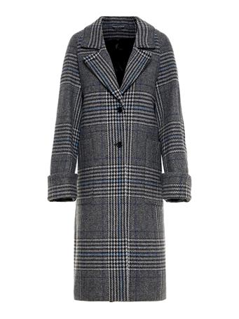 Kahlo Wool Plaid Coat