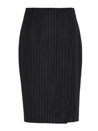 Silva Wool Pin Pencil Skirt