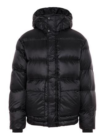 Ash Shiny Poly Puffer Coat