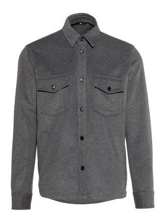 David Flat Wool Overshirt