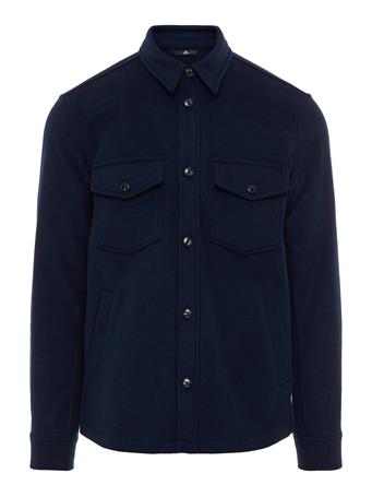 David Flat Wool Overshirt