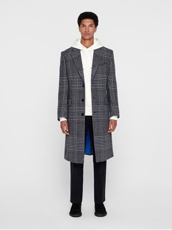 James Wool Plaid Coat