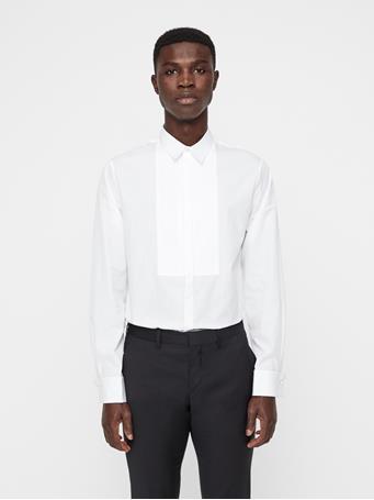 Daniel Poplin Plisse Tux Shirt