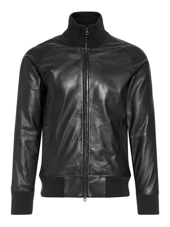 Shaken Light Leather Overshirt