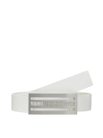 Dane White Leather Belt