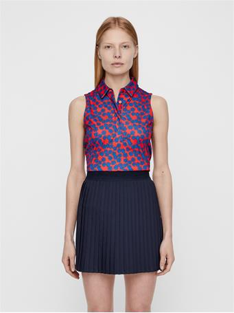 Dena Flower Print Polo