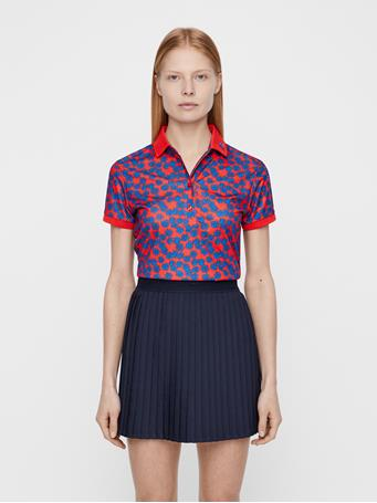 Tour Tech Flower Print Polo