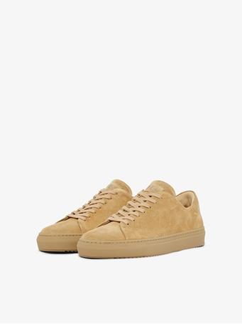 Suede Block Sneakers