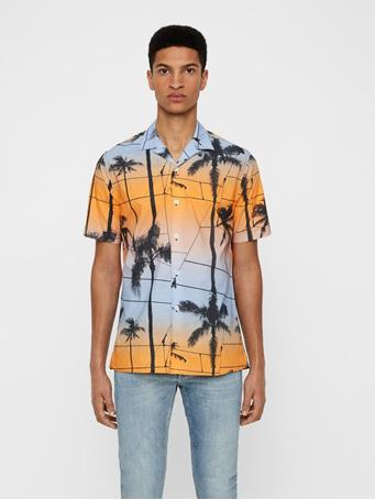 David Printed Palm Resort Shirt