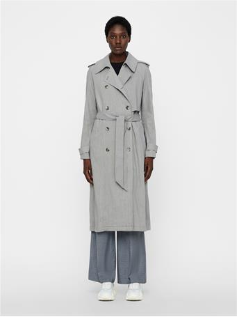Adalyn Stretch Linen Trenchcoat
