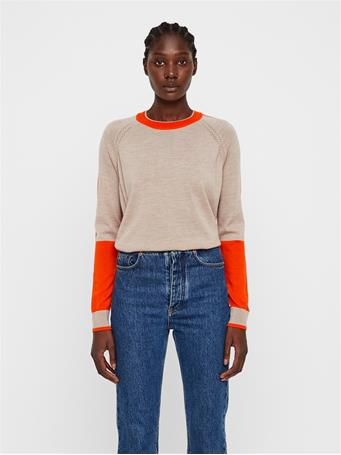 Karla Colorblock Merino Sweater