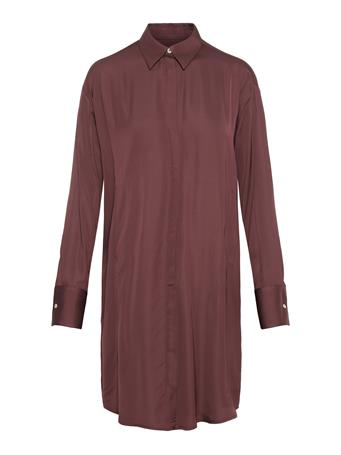 Nicoletta Satin Shirt Dress