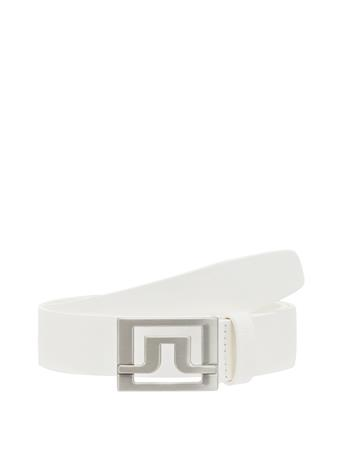 Valerie White Leather Belt