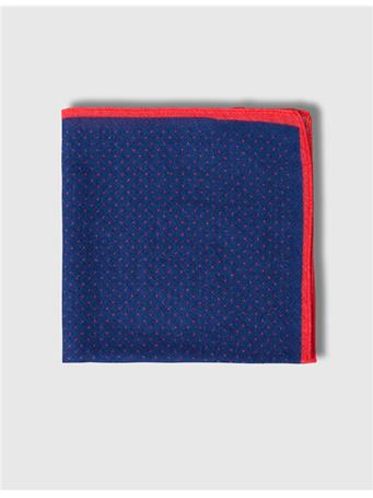 Framed Dot Wool Pocket Square